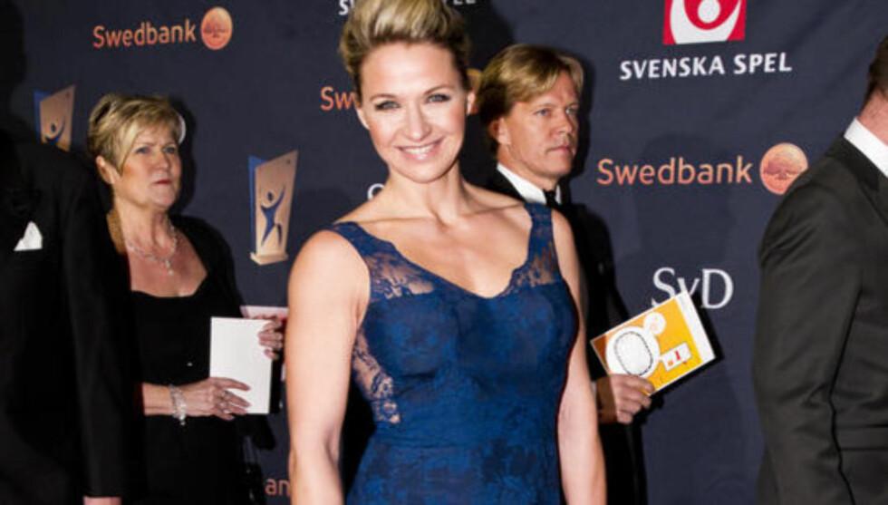 <strong>TRØTT OG VELTRENT:</strong> Kristin Kaspersen skriver bok om trening, men er så fysisk utmattet at hun må slutte i jobben som programleder for Nyhetsmorgon. Foto: Fame Flynet