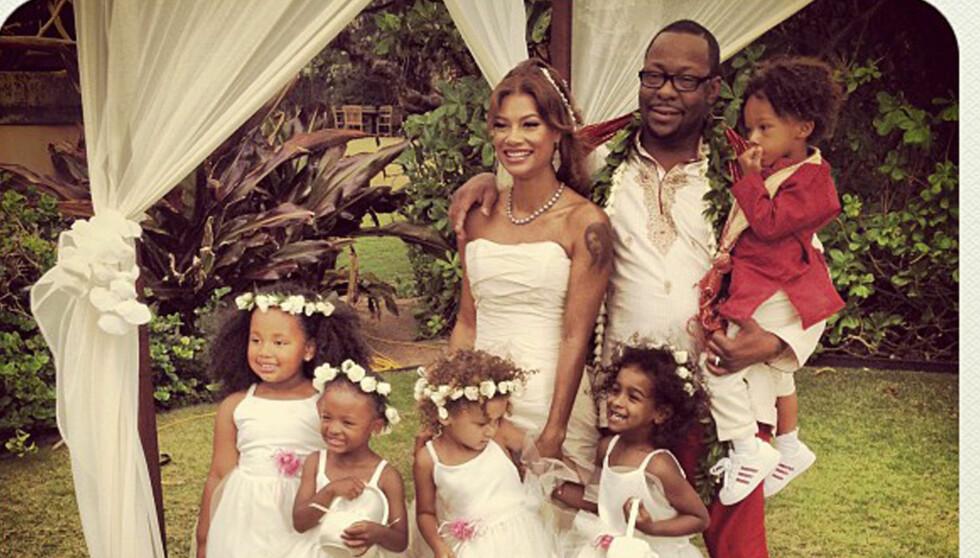 GIFT PÅ HAWAII: 18. juni giftet Whitney Houstons eksmann Bobby Brown seg med kjæresten Alicia Etheridge.  Foto: Twitter/PLANET PHOTOS