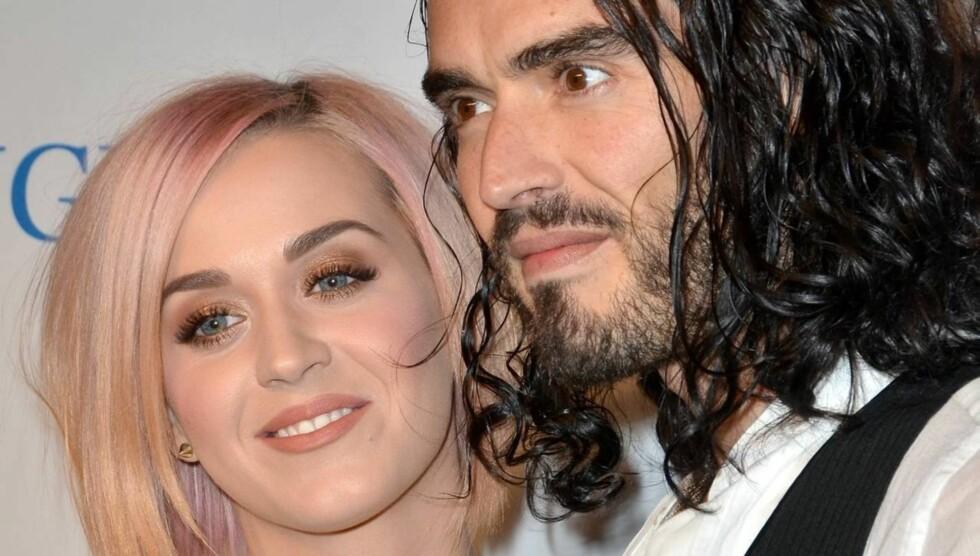 VANSKELIG BRUDD: Katy Perry har laget en film som blant annet viser hvordan hun takler skilsmissen fra Russell Brand.  Foto: All Over Press