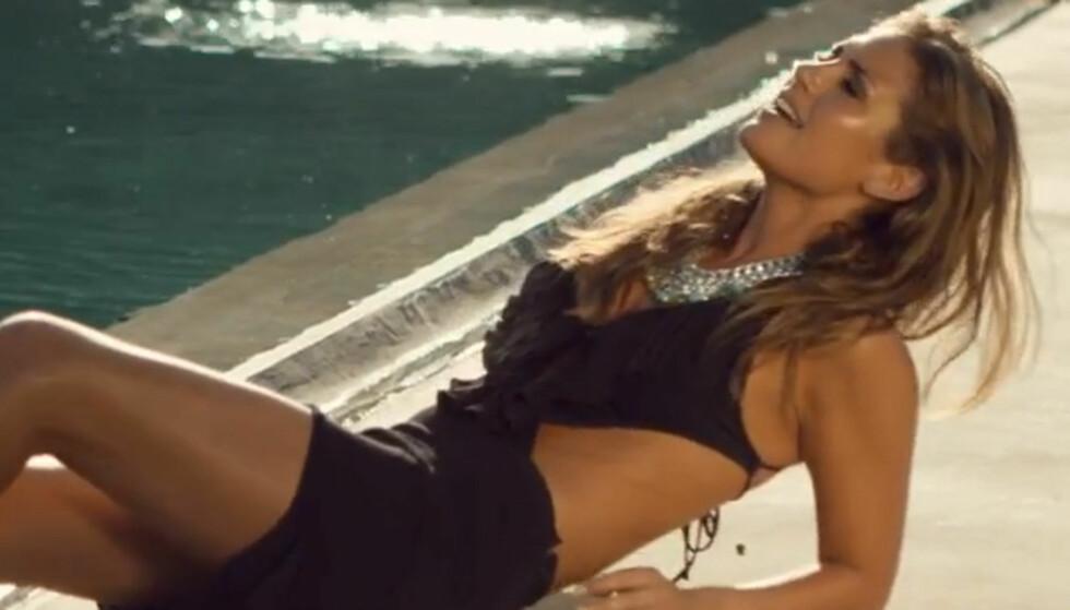 SEXY VIDEO: Tone Damli har fått mye oppmerksomhet for sine lettkledde scener i videoen til låten «Imagine», hvor hun synger sammen med svenske Eric Saade. Foto: Fra videoen