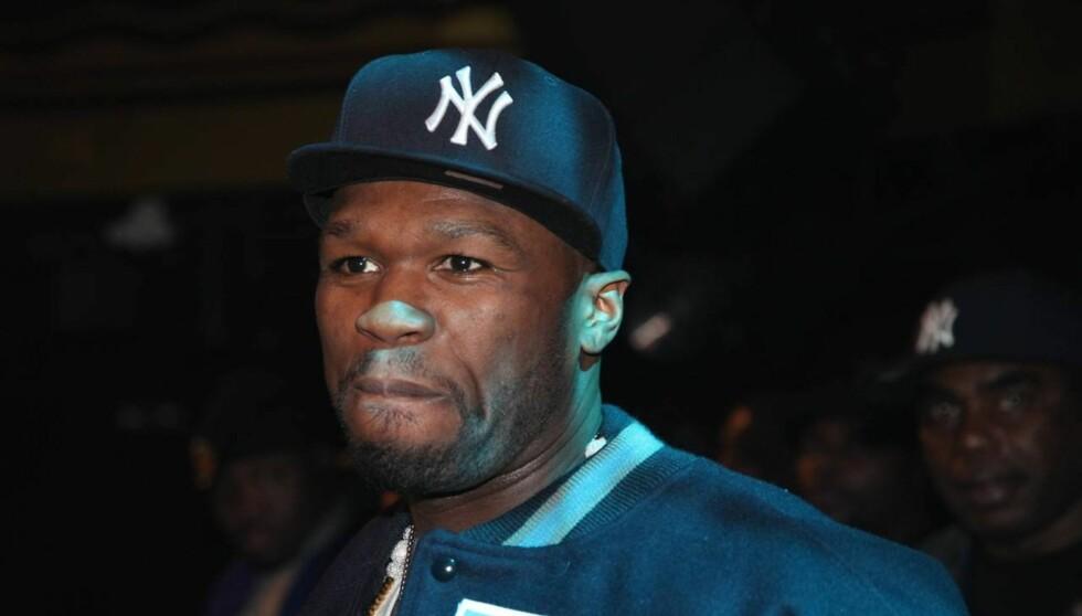 BLE PÅKJØRT: 50 Cent ligger for tiden på sykehus etter at bilen han satt i ble påkjørt bakfra mandag kveld. Foto: All Over Press