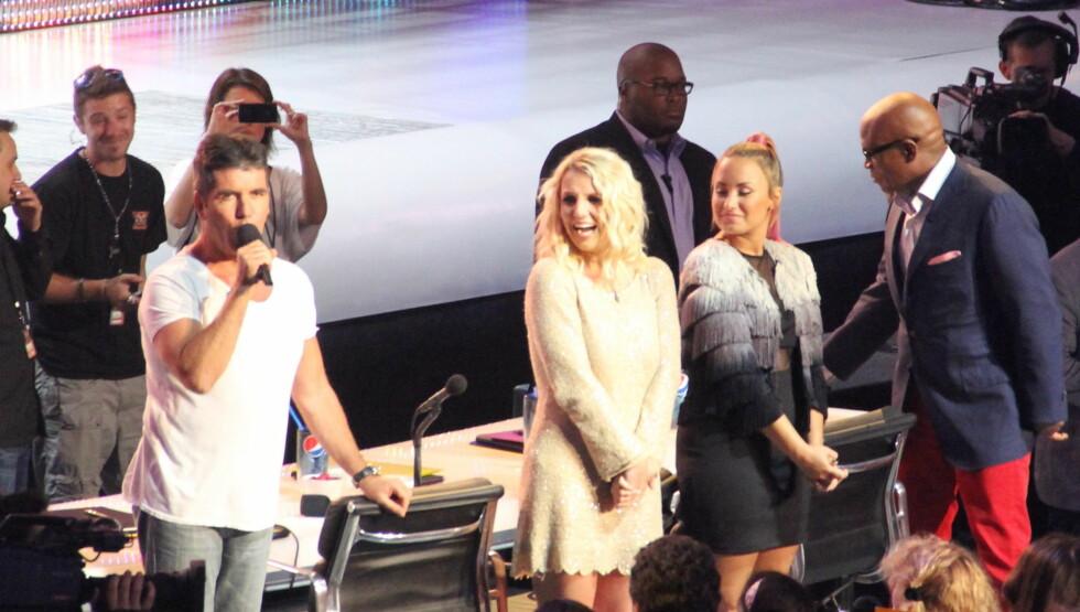STRENG DOMMER: Britney har fått rykte på seg som svært streng dommer i X Factor.  Foto: All Over Press
