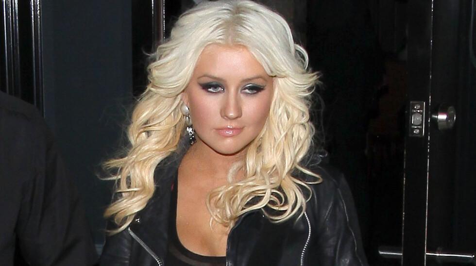 FAMILIEKRANGEL: Christina Aguilera har en årrekke kranglet med faren. Nå ønsker foreldrene hans å se barnebarnet sitt før de dør.  Foto: FameFlynet Norway