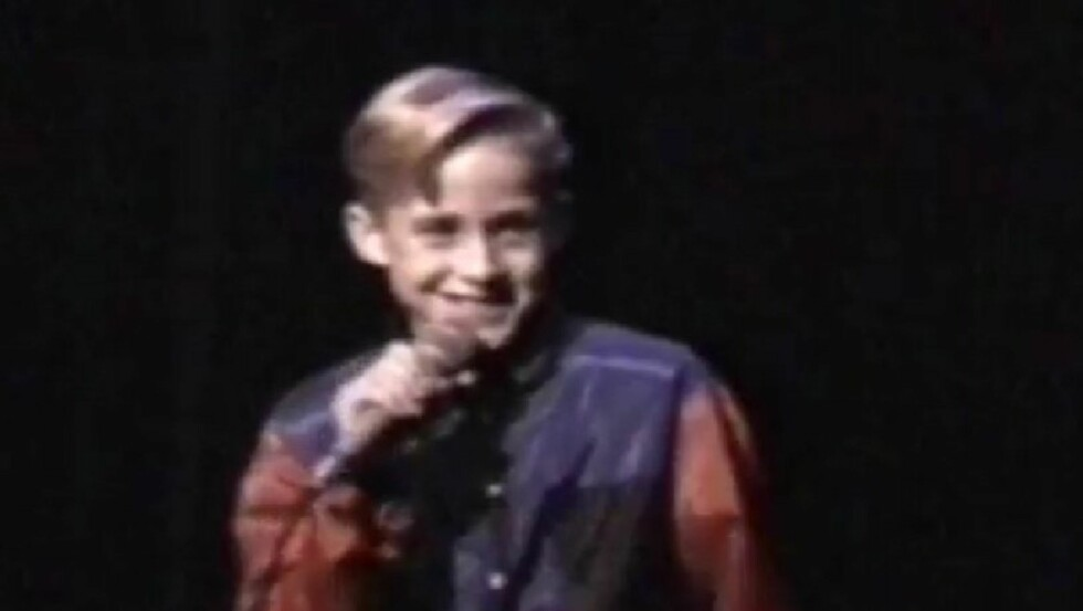 UNGT TALENT: Ryan Gosling imponerte med sang og dans bare ti år gammel i en talentkonkurranse.