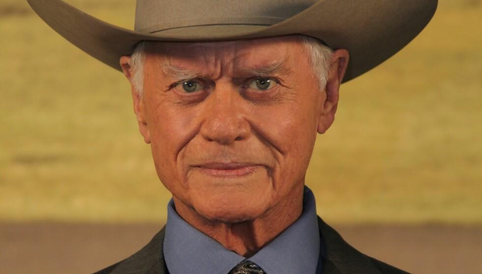 GJØR COMEBACK: Larry Hagman er igjen i aksjon som J.R. Ewing på amerikanske TV-skjermer, i en ny versjon av såpeserien «Dallas». Foto: Stella Pictures