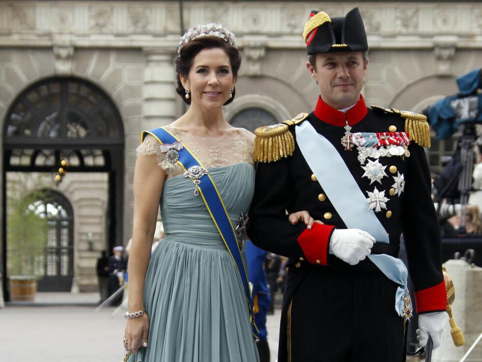 <strong>FLOTT PAR:</strong> Kronprinsesse Mary var som vanlig vakker i galla - med kronprins Frederik av Danmark ved sin side. Foto: NTB scanpix