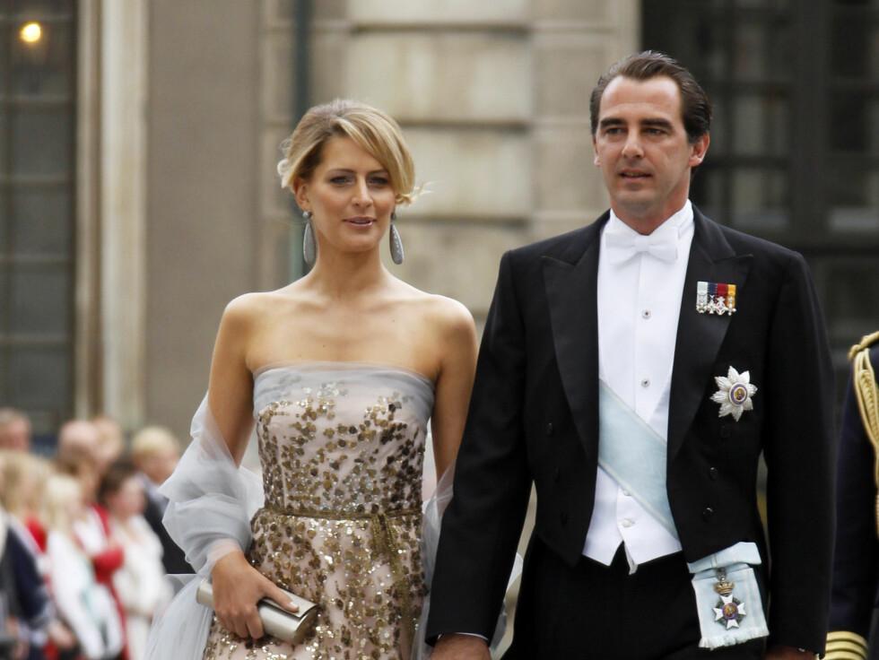 <strong>PRINSEPARET:</strong> Prins Nikolaos av Hellas og Tatiana Blatnik. Foto: NTB scanpix