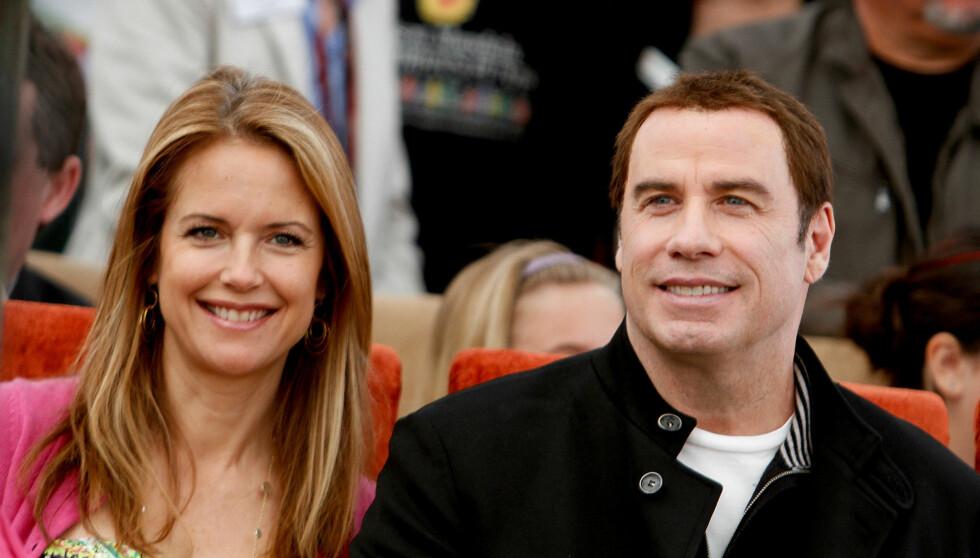 LER SAMMEN: Kelly Preston sier at en av de største styrkene i ekteskapet med John Travolta er latteren. Foto: All Over Press
