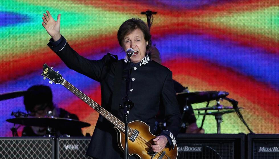 ROCKET I 50 ÅR. Her opptrer Paul McCartney på diamantjubilleumet til Dronning Elizabeth II i London, 4. juni. Foto: All Over Press