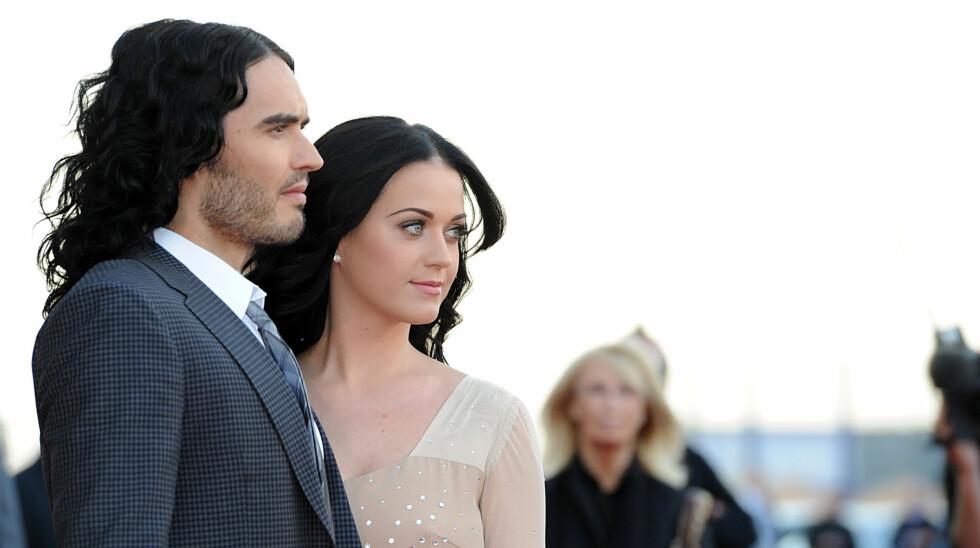 GIFT I ETT ÅR: Katy Perry og Russell Brands ekteskap tok raskt slutt. Paret var mye fra hverandre og Russell skal ha ønsket seg barn mens Katy ville vente.  Foto: FameFlynet Norway