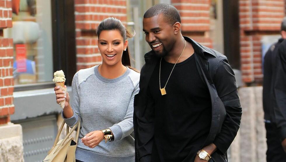 BEDRE MATCH: Rent høydemessig er Kim Kardashian og rapperen Kanye West mer like.  Foto: All Over Press