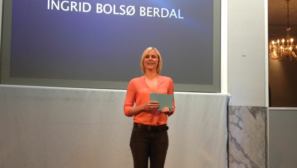 <strong>LEDER PRISUTDELINGEN:</strong> Ingrid Bolsø Berdal blir i år eneste programleder på Amanda.  Foto: Sølve Hindhamar/Seoghør.no