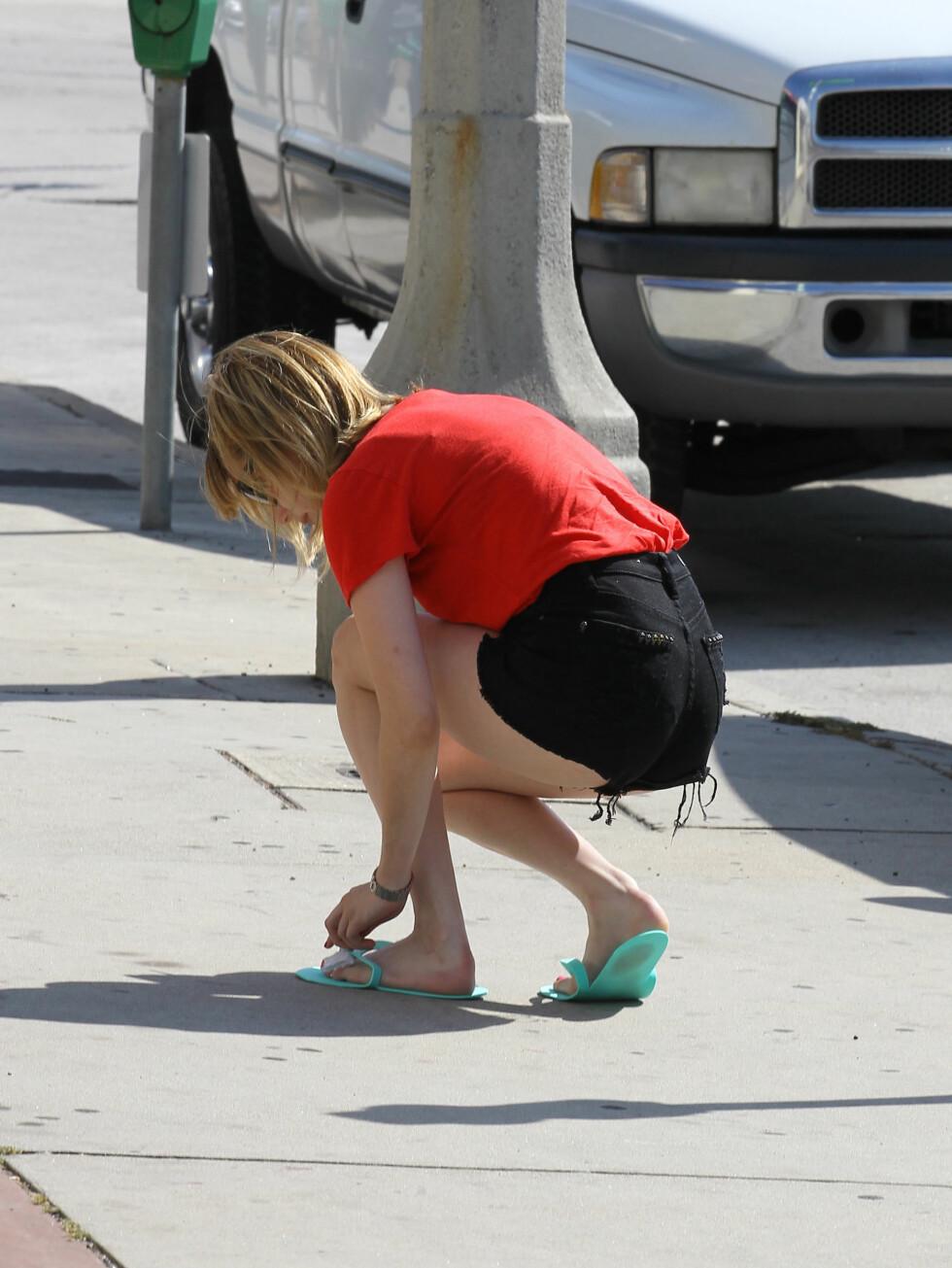 <strong>KORTE SHORTS:</strong> Skuespilleren viste seg fram i det Daily Mail kaller de korteste shortsene hittil. Foto: All Over Press