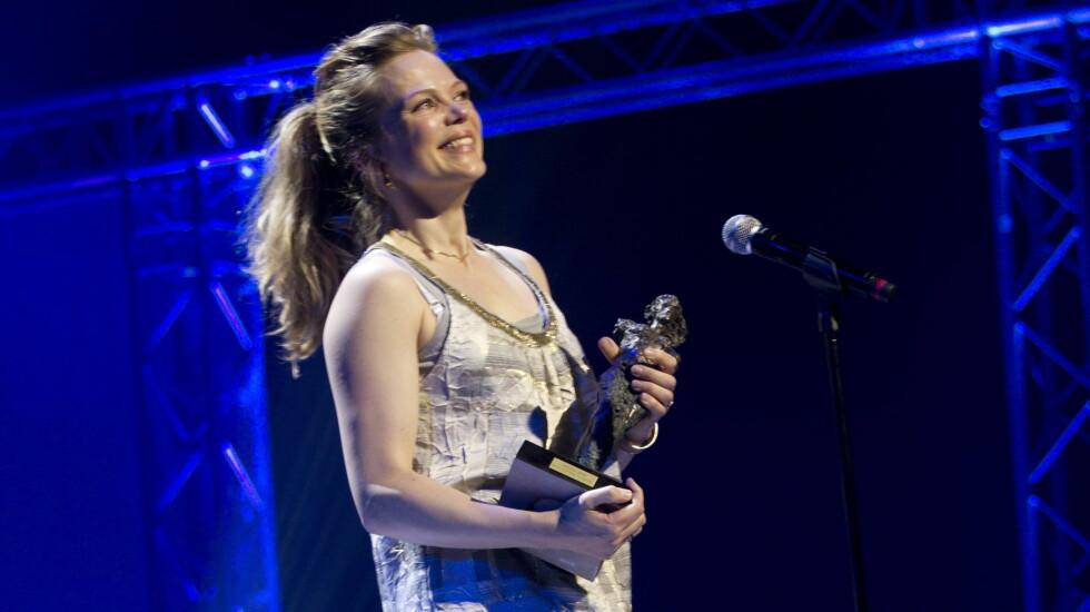 VANT PRIS: Søndag fikk Ane Dahl Torp prisen for beste kvinnelige skuespiller under utdelingen av Heddaprisen.  Foto: NTB scanpix