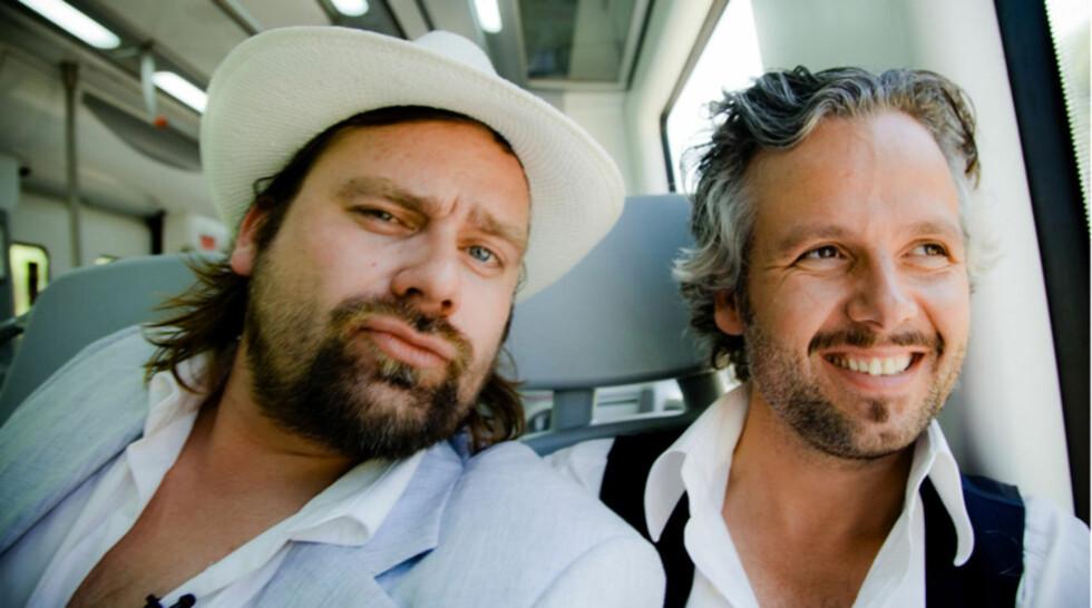 TILBAKE PÅ SKJERMEN: Per Heimly og Ari Behn er allerede i gang med innspillingen av et nytt program for TvNorge.  Foto: Per Heimly/ NRK