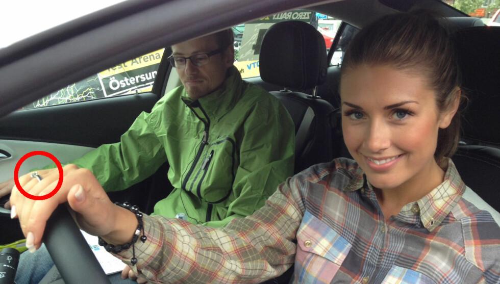FRIDDE: Aksel Hennie fridde under parets ferietur til Paris - og fikk ja av Tone. Her er hun avbildet torsdag i Sverige. Foto: Jonas Frøland/Se og Hør