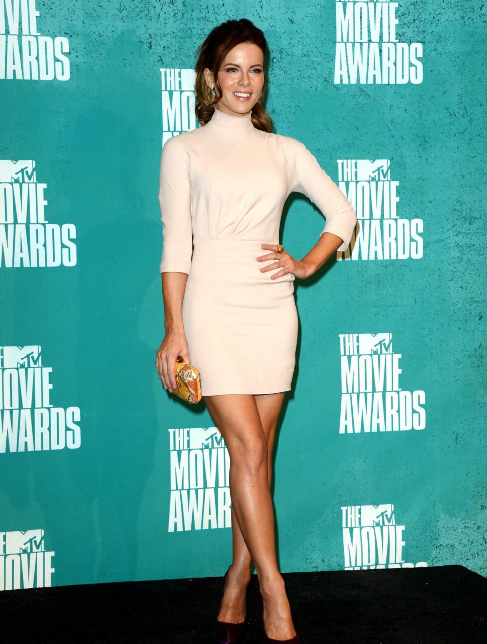 STILREN: Skuespiller Kate Beckinsale valgte en klassisk, ren stil på filmgallaen. Foto: All Over Press