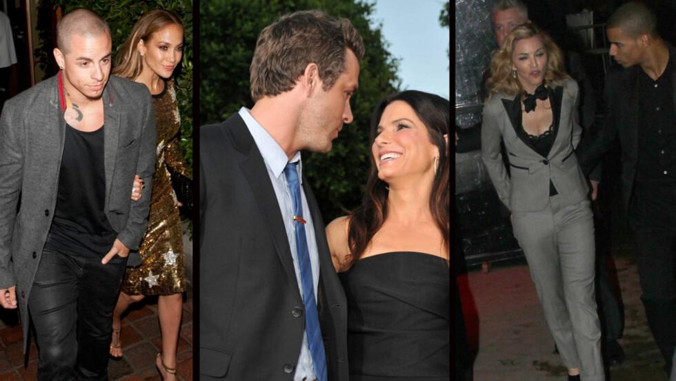UNGE KJÆRESTER: Stjerner som Jennifer Lopez, Sandra Bullock og Madonna har alle falt for langt yngre menn.  Foto: All Over Press/Fame Flynet