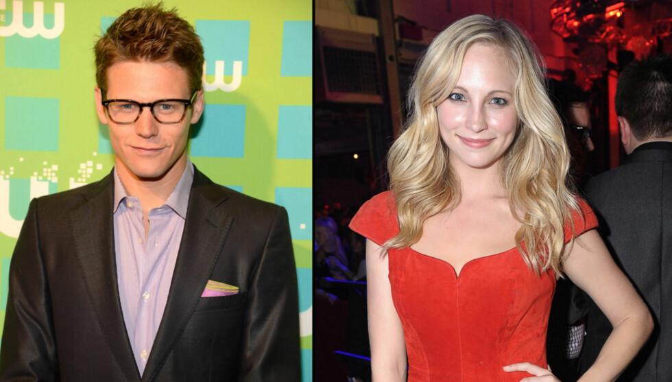 SLUTT: Forholdet mellom The Vampire Diaries-kollegene Zach Roerig og Candice Accola er over. Foto: All Over Press