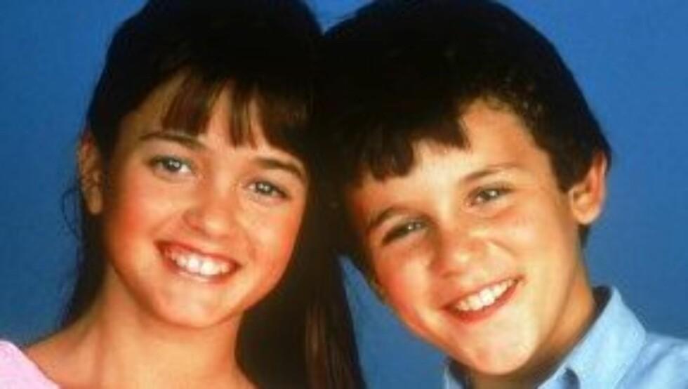 SUKSESS-ROLLE: Her er Danica McKellar i rollen som Winnie Cooper, sammen med Fred Savage i rollen som Kevin Arnold i «Mine beste år».
