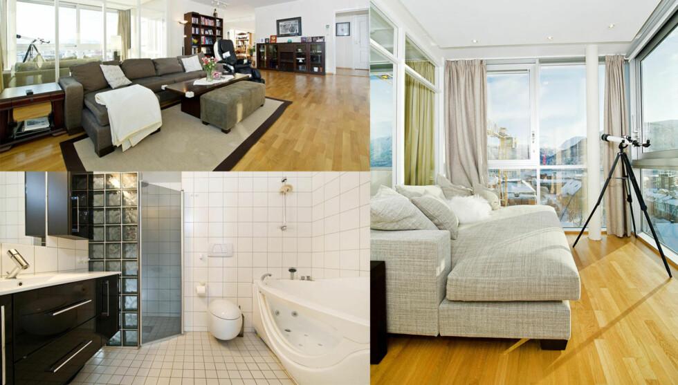STILFULL LEILIGHET: Sigurd Rushfeldts leilighet har mange flotte detaljer og en fantastisk utsikt over Tromsø.  Foto: Gjengitt med tillatelse