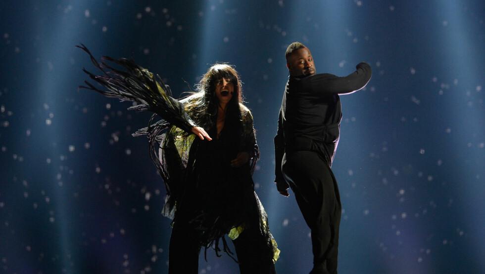 TRØBBEL: Loreen opplevde trøbbel med spesieleffektene på scenen under generalprøven torsdag kveld.  Foto: Andres Putting (EBU)