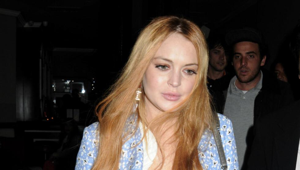 SKUMMELT: Lindsay Lohan skal ha jobbet så mye den siste tiden at kroppen til slutt nektet å samarbeide. Foto: All Over Press