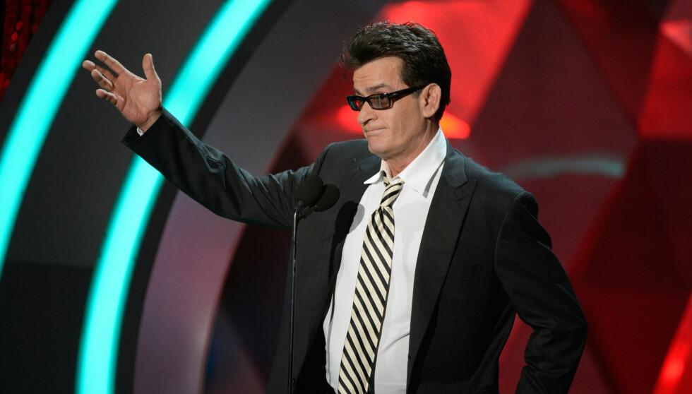 <strong>KJEMPER SEG TILBAKE:</strong> Sheen er på full fart tilbake til tv-skjermen og lar seg ikke knekke av dårlig PR. Her er han på MTV Movie Awards sist søndag. Foto: All Over Press