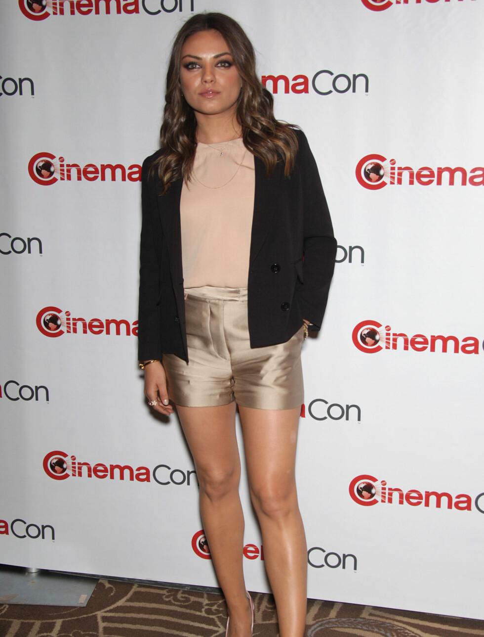 NUMMER 3: Mila Kunis tar tredjeplassen. Foto: All Over Press