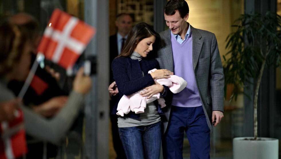 BLE DØPT: Prins Joachim og prinsesse Marie har gitt datteren navnet Athena Margueritte Francoise Marie. Foto: Stella Pictures