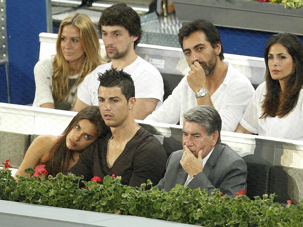 SÅ FEDERER VINNE: Stjerneparet så Federer vinne Madrid Masters. Foto: Fame Flynet