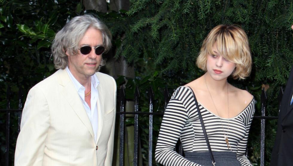 IKKE IMPONERT: Sir Bob Geldof legger ikke skjul på at han er misfornøyd med datteren Peaches' valg av navn til sin nybakte sønn. Foto: Stella Pictures