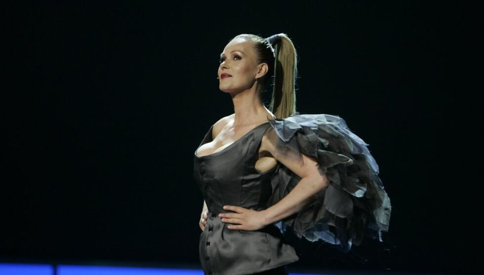 13. OG SISTE GANG: Dorthe Skappel leder sitt siste Gullruten-show lørdag kveld.  Foto: Stella Pictures