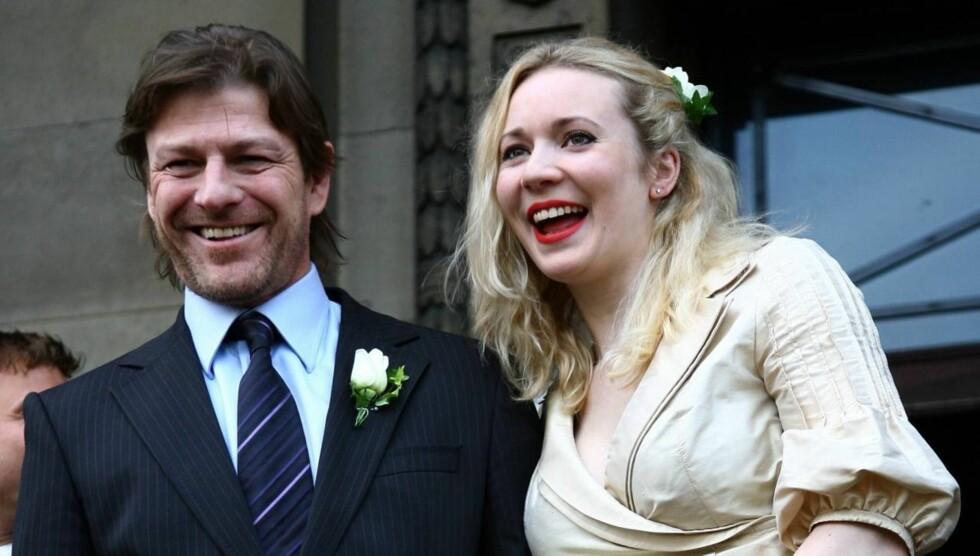GIFT OG SKILT FOR FJERDE GANG: Ekteskapet med Georgina Sutcliffe varte bare to år . Nå er skuespilleren Sean Bean anmeldt for trusler mot eks-kona, to år etter at de skilte seg. Foto: All Over Press