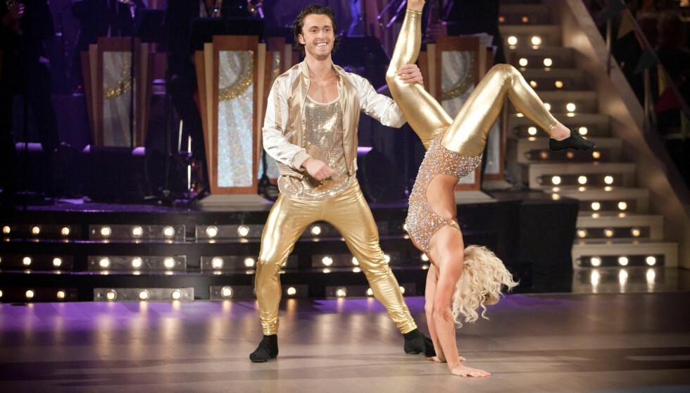 AKROBAT: Kari Traa imponerte stort i «Skal vi danse», sammen med Egor Filipenko. Foto: Stella Pictures