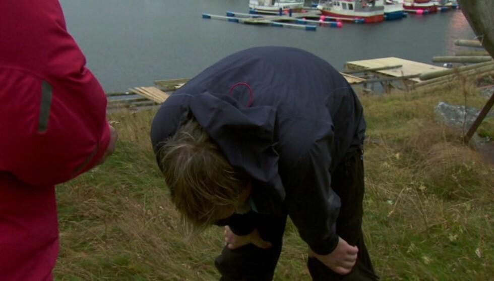 NOEN TÅRER: Antonsen klarte ikke å holde tilbake tårene etter å ha slått Didrik Solli-Tangen og Gustav Nilsen. Men i finalen holdt det ikke til seier. Foto: TVNorge