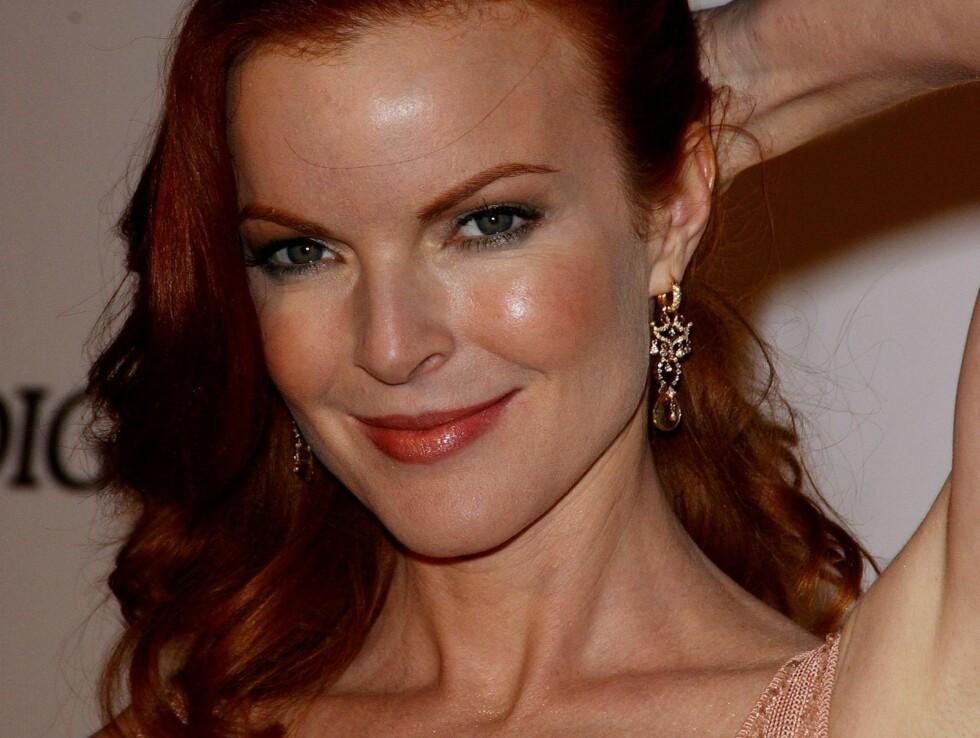 FØR: Slik så Marcia Cross ut under seriens premiere i Beverly Hills, 2004.  Foto: Stella Pictures