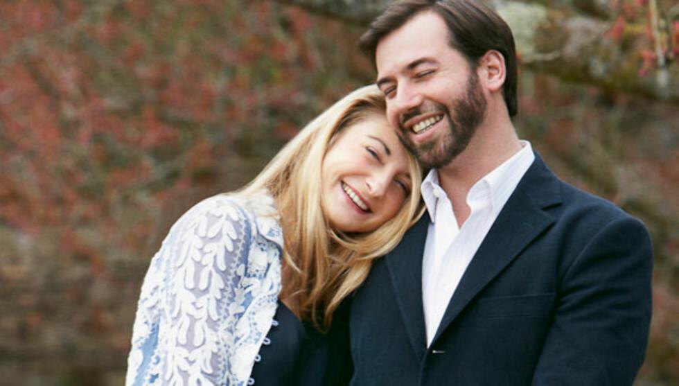 GIFTER SEG I OKTOBER: Hertuginne Stéphanie de Lannoy og kronprins Guillaume. Foto: Kongehuset