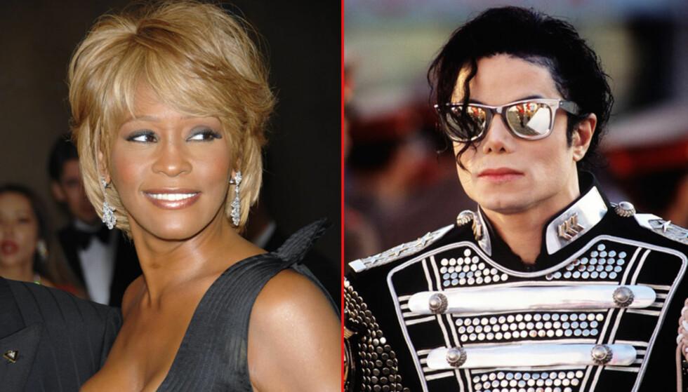 KJÆRESTER: Da Whitney Houston var på høyden av sin karriere var hun og Michael Jackson hemmelige kjærester, avslører Jacksons tidligere livvakt til The Sun. Foto: All Over Press