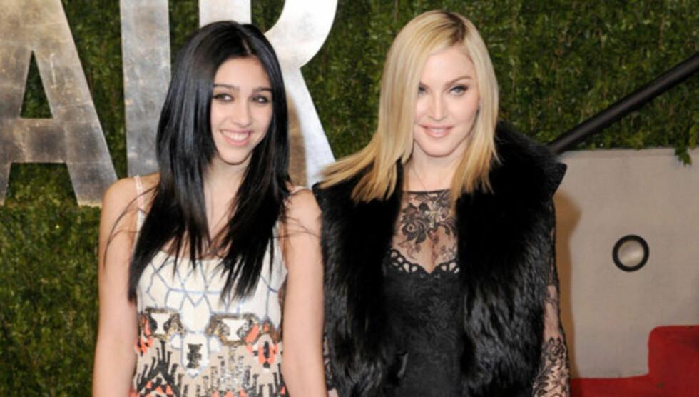 MÅ BLI STRENGERE: Madonna avslører at hun er for snill med barna sine. Foto: All Over Press