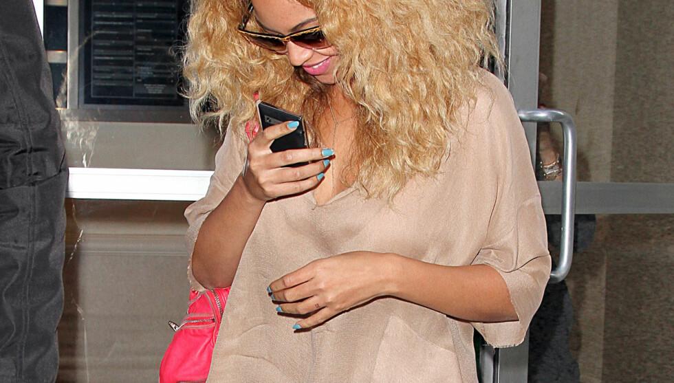 <strong>MISTET KILOENE:</strong> Beyonce takker ammingen for at hun er tilbake i form. Foto: All Over Press