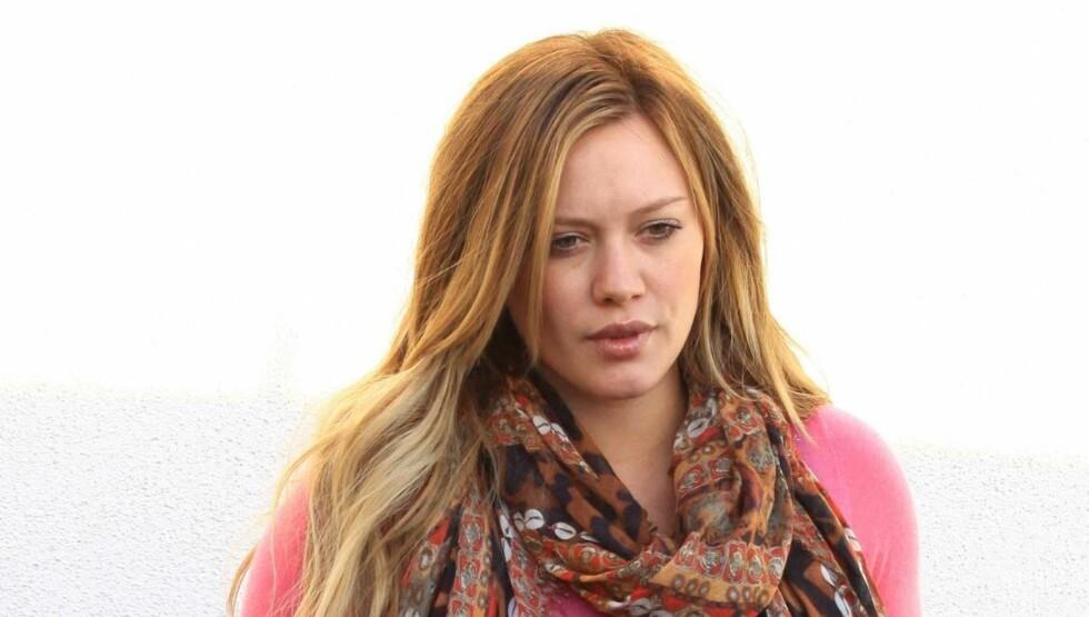 STERK OPPLEVELSE: Hilary Duff sier til People at hun har spart på restene av sin navlestreng etter at hun i mars ble mamma for første gang. Foto: All Over Press