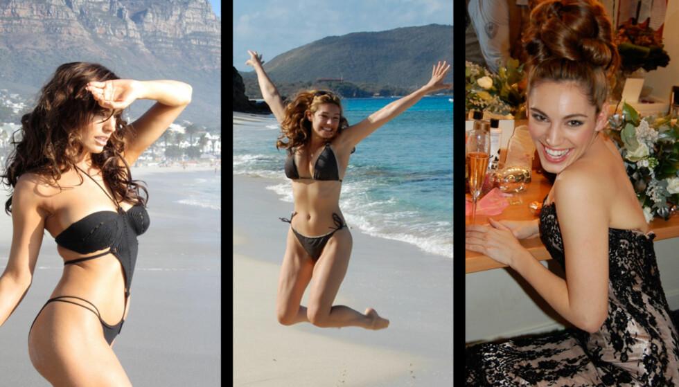 <strong>LA UT PRIVATE BILDER:</strong> Disse bildene og flere andre har fått tusenvis av fans til å strømme til modellen Kelly Brooks nye Tumblr-side, etter at hun la dem ut. Foto: Kelly Brook/Tumblr