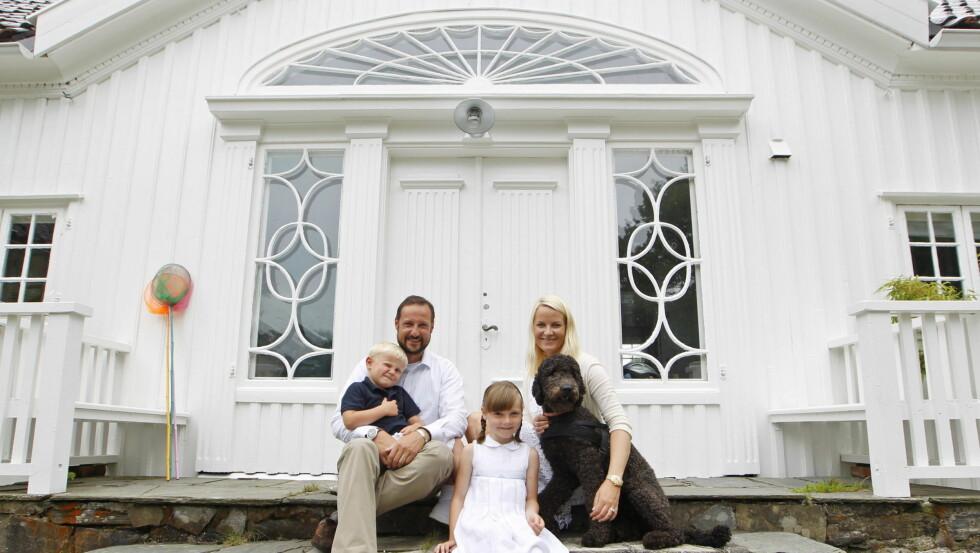 <strong>FERIESTED:</strong> Kronprinsparet har i flere år leid Vogts villa utenfor Kristiansand. Nå må bygningen utbedres etter at de ble funnet råte.  Foto: SCANPIX