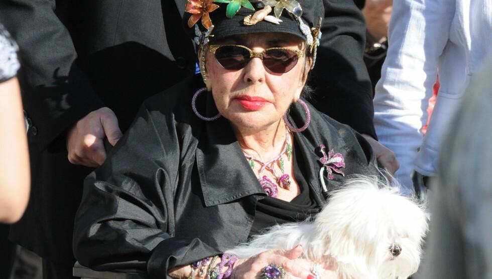 <strong>MED HUNDEN:</strong> Elizabeth Taylor var svært knyttet til sin hund Daisy. Nå krangler sønnen og hennes tidligere manager om hvem som skal ha omsorgsretten for den avdøde filmstjernens hund. Foto: All Over Press