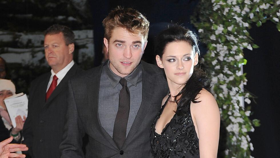 MISFORNØYD: Kristen Stewart liker dårlig at kjæresten Robert Pattinson har lagt på seg og har nå bedt ham om å trene mer.  Foto: All Over Press