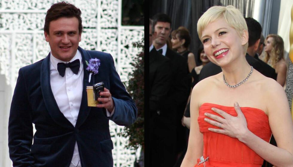 KJÆRLIGHET: Michelle Williams skal ha sagt til venner at hun er hodestups forelsket i komikeren Jason Segel