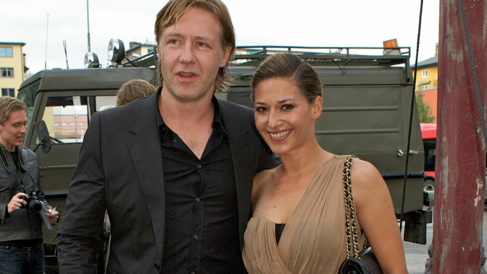 FORELSKET: Pia Tjelta og Mads Ousdal har vært sammen i fem år og møttes under innspillingen av NRK-serien «Kodenavn Hunter».  Foto: Stella Pictures