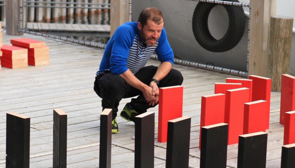 FØR TAPET: Sekunder etter at dette bildet er tatt, innser Stig Inge Bjørnebye at «71 grader nord»-eventyret er over. Foto: TVNorge