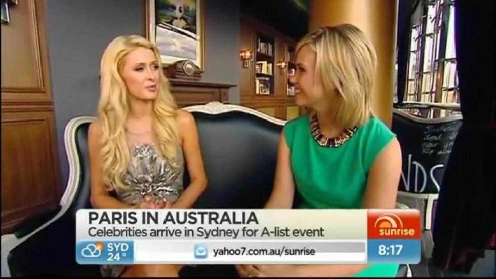 <strong>BLE SUR:</strong> Paris Hilton likte ikke å bli spurt om hva hun vil gjøre den dagen hun ikke er berømt lenger i et intervju med den australske TV-kanalen Channel 7. Foto: Stella Pictures